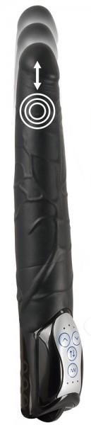 Black Push Thrusting Vibrator