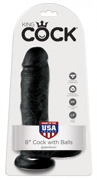 """8"""" Cock with Balls"""