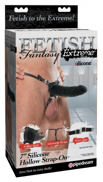 """7"""" Silicone Hollow Strap-on"""