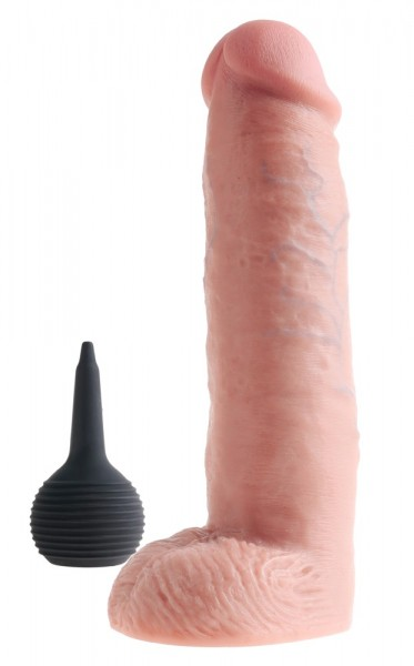 """10"""" Squirting Cock with Balls"""