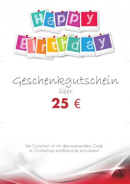 Geschenkgutschein zum Download - Birthday