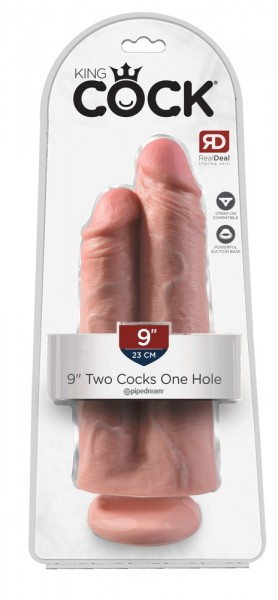 "9"" Two Cocks One Hole"