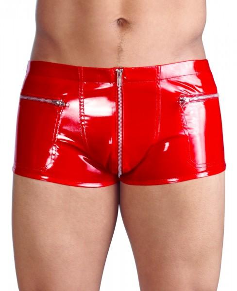 Lack-Pants mit Zip