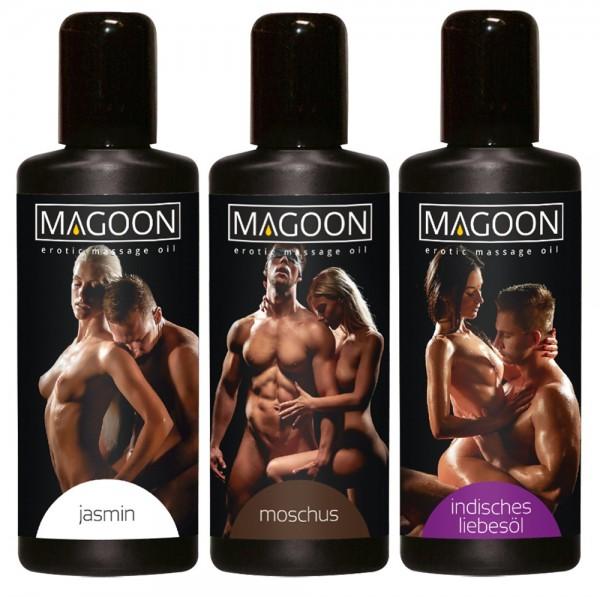 3er Set Erotic Massage Oil